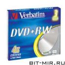 DVD+RW диск Verbatim 4.7Gb 4x slim3