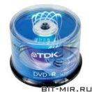 DVD-R диск TDK 16x cake 50шт.