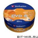 DVD-R диск Verbatim 16xShr.25шт.(43730)