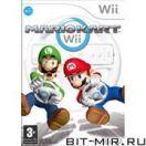 Игровой диск для Nintendo WII Медиа Wheel+Mario Kart Wi-Fi