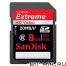 Карта памяти SDHC SanDisk SDSDRX3-08G-E21